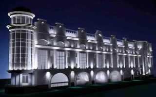 Фасадная подсветка зданий светильники