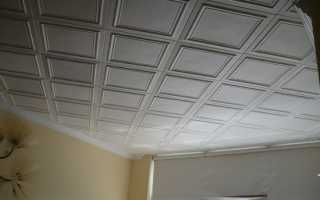Квадраты на потолок из пенопласта