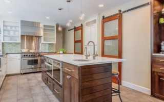 Двери для кухни со стеклом фото