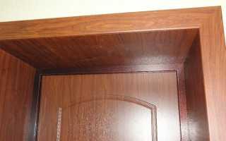 Оформление откосов входной двери внутри квартиры