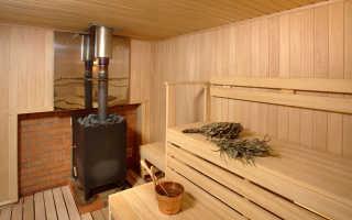 Установка банной печи на деревянный пол