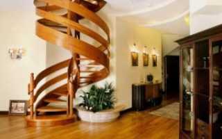 Размеры винтовой лестницы на второй этаж