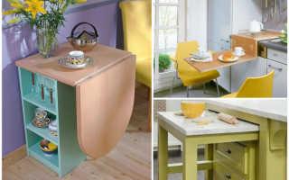 Барный стол вдоль стены