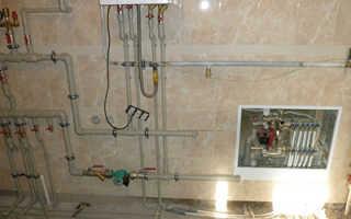 Схема разводки труб отопления в частном доме