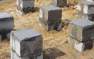 Кирпичные блоки для фундамента