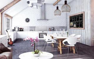 Белые деревянные стены