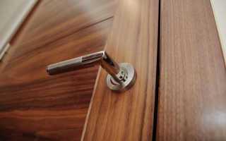 Что такое шпонированная дверь в разрезе