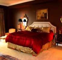 Бело красная спальня