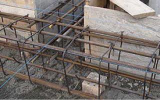 Каркас под фундамент из арматуры