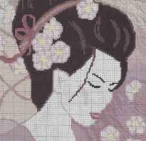 Японские вышивки крестом