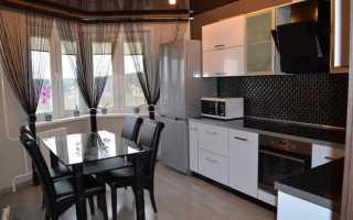 Шторы на кухню на высокие окна