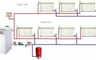 Схема прокладки труб отопления в частном доме