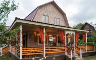 Веранда к дому с двускатной крышей