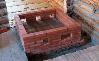 Простейшая печь для бани из кирпича