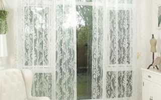 Как оформить тюль на окне