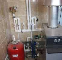 Схема отопления для напольного котла