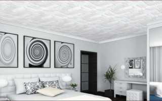 Как красиво поклеить потолок плиткой