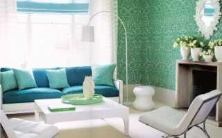 Бело зеленые стены