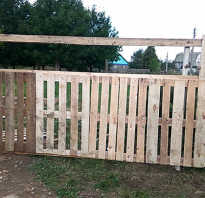 Как сделать забор из поддонов