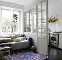Перегородки между кухней и гостиной