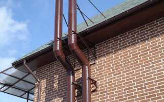 Дымоход от газового котла в частном доме