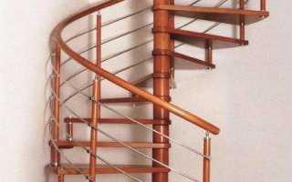 Размеры винтовой лестницы на второй