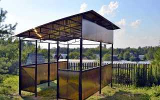 Беседка для дачи из поликарбоната и металла