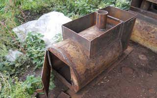 Печка для бани из трубы своими