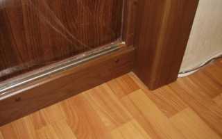 Высокий порог у входной двери