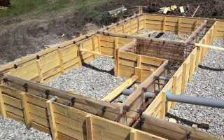 Фундамент под баню со сливом