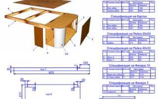 Чертежи мягкой мебели для самостоятельного изготовления