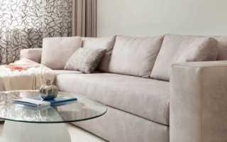 Белые стены бежевый диван