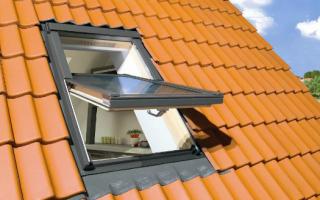 Варианты окон в крыше