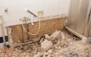 Ремонт ванной туалета