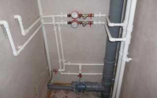 Прокладка водопровода из полипропиленовых труб