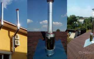 Дымоход для газового котла из нержавеющей стали