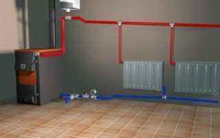 Схема открытой системы отопления с циркуляционным насосом