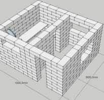 Баня из блоков