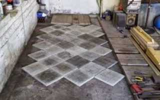 Напольная плитка для гаража 5 лучших видов