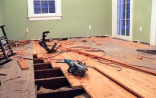 Реставрация деревянных полов в доме и квартире