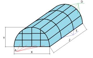 Расчет теплицы из профильной трубы и поликарбоната