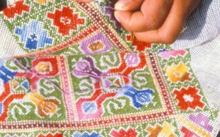 Техники вышивания крестиком
