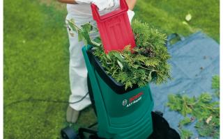 Измельчитель садовый для травы и веток лучший