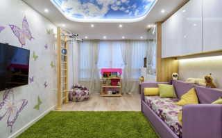 Какой натяжной потолок для детской