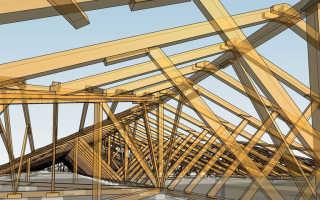 Варианты стропильных систем двухскатной крыши