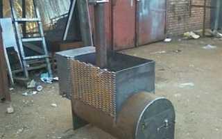 Печка для бани из трубы вертикальная