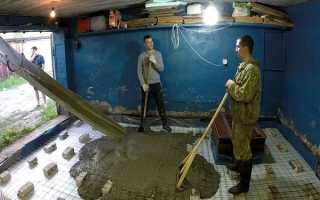 Армирование пола гаража по грунту