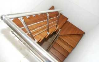 Расчет поворотной лестницы на 180 градусов