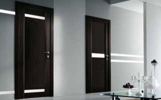 Межкомнатные двери венге в интерьере фото