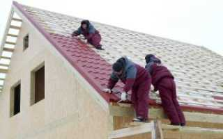 Вальмовая крыша под металлочерепицу